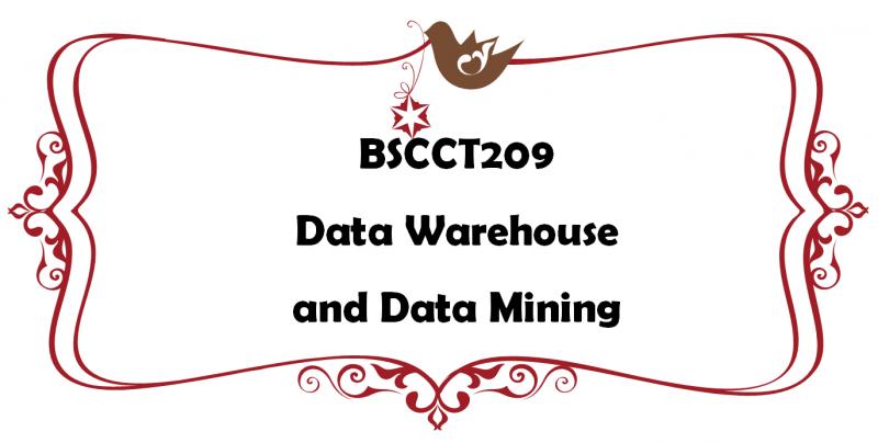 คลังข้อมูลและเหมืองข้อมูล / Data Warehouse and Data Mining