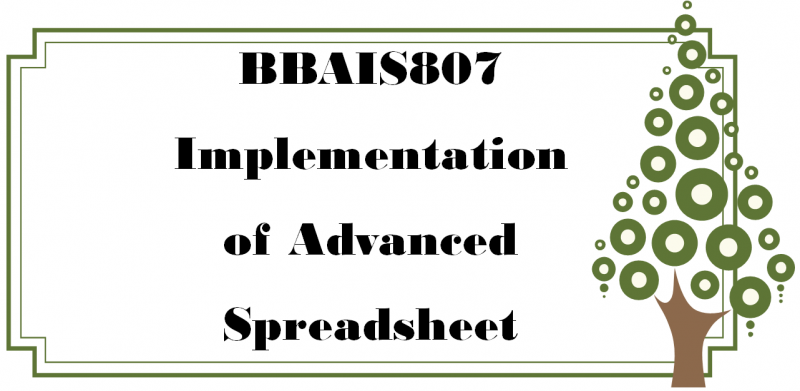 โปรแกรมตารางคำนวณขั้นสูง_4.8ก / Implementation of Advanced Spreadsheet