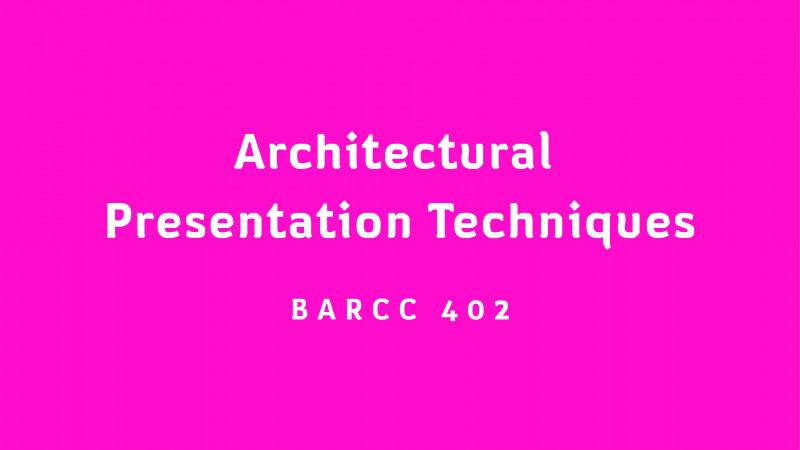เทคนิคแสดงแบบทางสถาปัตยกรรม / Architectural Presentation Techniques